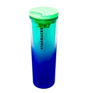 STARBUCKS NEW 2020 Blue Ombre Frosted Tumbler 16oz